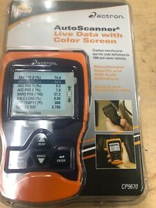 Actron Cp9670 Auto Scanner Trilingual Obd Ii Can For 1996 Newer Autos New
