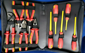 Westward 1yxj7 Insulated Up To 1000v Electrical Tool Set 10 Pc