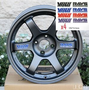 4x Rays Volk Racing Te37 Spoke Decal Sticker Vinyl
