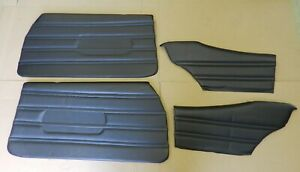 1970 Buick Skylark Gs 350 Custom Front Rear Assembled Door Panel Set Black