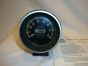 Vintage 1970 S Stewart Warner Stage 1 Electric Tachometer With Manual Near Mint