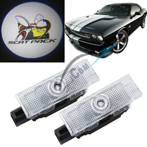 2pc Door Projector Ghost Shadow Logo Lights For Dodge Challenger Scat Pack 08 19