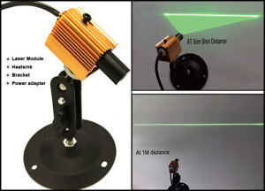 5 24vdc 532nm 30mw Green Laser Line Module For Stone wood Cut Locating 12 50