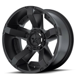 20x10 Black Wheels Xd811 Rockstar 2 For 2019 Lifted Dodge Ram 1500 6x5 5 24mm