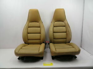 1986 1995 Porsche 928 S4 1082 Front 8 way Power Tan Leather Seats