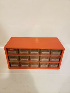 Vintage Raaco Metal 15 Drawer Nut bolt Small Parts Storage Cabinet Crafts