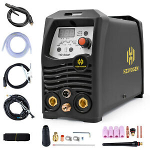 Hzxvogen 200a Tig Welder Pulse Dual Voltage 110v 220v Arc Stick Welding Machine
