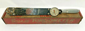 Vintage Snap On Tq 150 1 2 Drive Torqometer 150 Ft Lbs Torque Wrench W Box