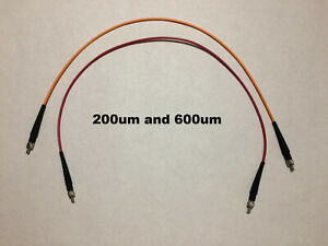 Two Optical Fiber Cables For Ocean Optics Spectrometer W Sma 905 Sma905 Cable