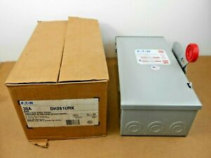1 Nib Eaton Dh261urk Safety Switch Non fusible 30a 30 Amp 2p 2 Pole 600v Nema 3r