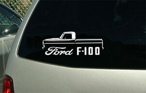 1967 1972 Ford F100 Pickup Truck Outline Sticker Decal Wall Graphic