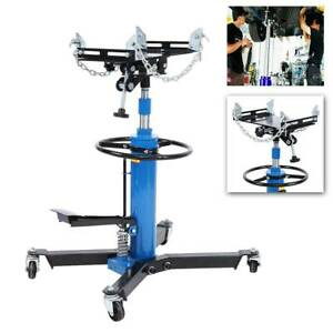 1100lbs Hydraulic Transmission Jack 2 Stage Auto Shop Car Lift Adjustable Height