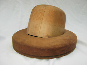 Antique American Hat Co Millinery Wood Hat Block Mold Brim Form 6 7 1 2 52