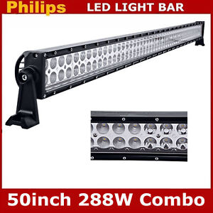 50inch 288w Led Work Light Bar Straight Truck Offroad Atv Boat Driving For Jeep