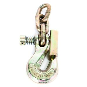 Portable Winch Grab Hook With Latch 3 Chain Links