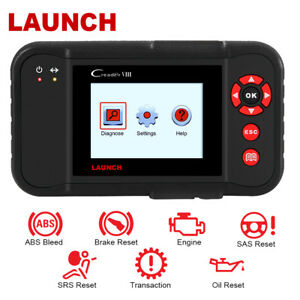 Launch X431 Creader Viii Code Reader 4 Systems Sas Srs Oil Reset Diagnostic Tool