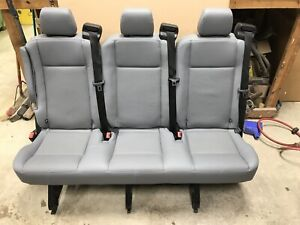 15 18 Ford Transit Van Oem Pewter Gray Vinyl Rear 3 Passenger 54 Split Bench
