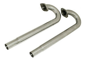 Vw Type 1 2 Bug Bus Ghia 1 3 8 Ceramic Coated Exhaust J Tubes Pair Baja Sandrail