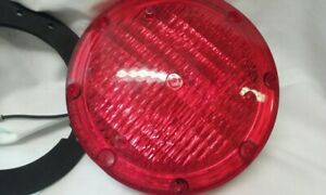 Vintage Weldon 1020 Round Red Replacement Lamp Bus Fire Dept Ect