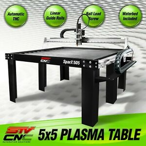 Stv Cnc 5x5 Plasma Cutting Table Sparx 505 Made In The Usa