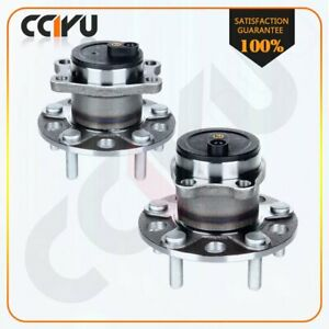 Pair New Preminum Rear Wheel Hub Bearing Assembly For Jeep Patriot W Abs 07 13