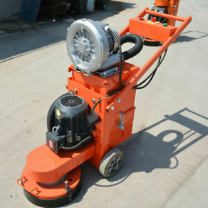 Concrete Floor Grinder With Blower Triangular Sticky Plate Dust Collection 220v