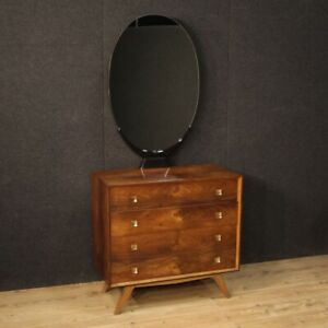 Dresser Chest Of Drawers Modern Commode With Mirror Furniture 4 Drawers Vintage