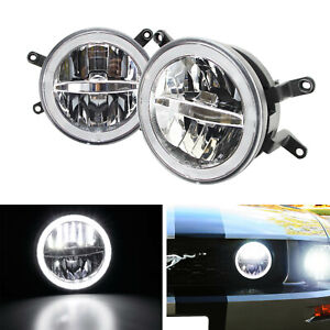 30w Cree Led Driving Fog Light Kit W led Halo Ring For 2005 2009 Ford Mustang
