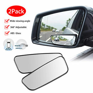 2x Adjustable Blind Spot Rear View Side Mirror 360 Wide Angle For Car Truck Suv