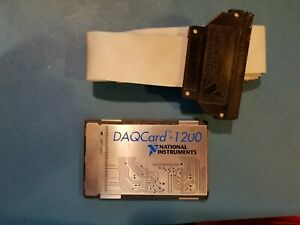 National Instruments Pcmcia Daqcard 1200 Card With Cable