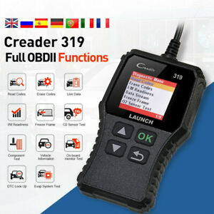 Launch Cr319 Vehicle Code Reader Obd2 Scanner Check Engine Car Diagnostic Tool