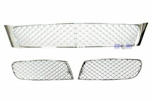 For Bentley Continental Flying Spur 4d 05 09 Front Bumper Lower Grille Chrome