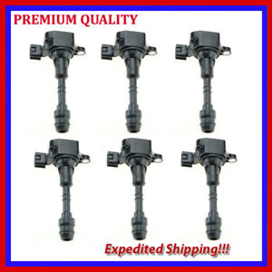 6pc Ignition Coil Jns354 For 2003 2004 2005 2006 2007 2008 Nissan Murano 3 5l V6