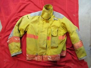 Janesville 44 Chest X 29r Firefighter Jacket Coat Bunker Turn Out Gear Rescue