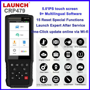 Launch Crp479 Android Touch Screen Abs Bleeding Bms Epb Sas Reset Obd2 Scanner