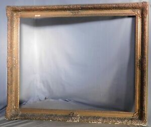 Antique Distressed Florentine Gilt Finish French Louis Xiv Picture Frame 24x30
