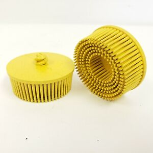 3m Roloc 07525 2 Bristle Discs 80 Grit Tapered Yellow Set Of 2