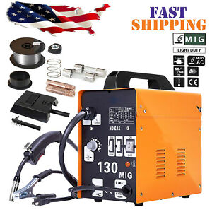 Mig 130 Ac Flux Core Wire Automatic Feed Welder Welding Machine W free Mask 110v