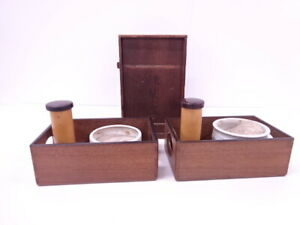 4247431 Japanese Tea Ceremony Tobacco Mulberry Container Smoking Set