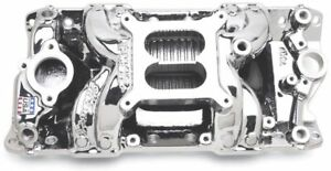 Edelbrock 75014 Sbc Small Aluminum Endurashine Intake Manifold Rpm Air Gap