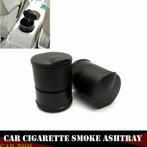 Black Auto Car Truck Cigarette Smoke Ashtray Ash Cylinder Holder For Offiicehome