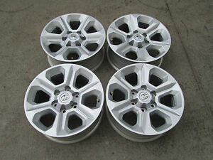 17 Toyota Tacoma Fj Cruiser 4 Runner Wheels Rims Oem Factory Silver