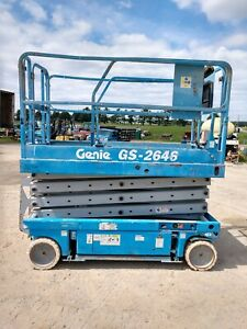 Genie Gs 2646 26 Electric Scissor Lift Aerial Manlift Platform Gs2646