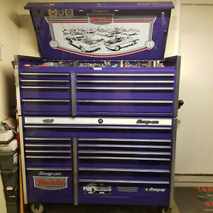 Snap on Mopar Edition Roller Cabinet And Top Box including Tools