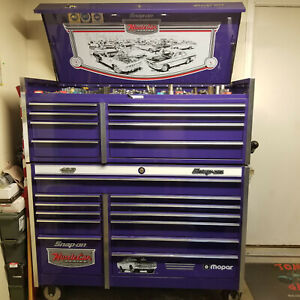 Snap on Purple Mopar 426 Hemi Roller Cabinet toolbox And Top Box Including Tools
