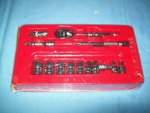 New Snap On 1 4 Drive Sae General Service 6 Pt Socket Set T72 Ratchet 114atmp