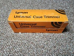 Used Lyman Universal Case Trimmer Kit with 8 Pilots 7862000 complete with manual