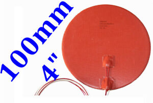 4 100mm 12v 150w Diameter 3d Printer Heatbed Round Circular Silicone Heater Pad