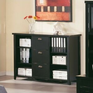 Martin Furniture Tribeca Loft 3 Drawer Lateral Wood File Storage Bookcase In