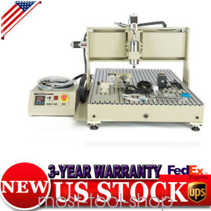 1 5kw 4axis Usb Cnc Router 8050 Engraver Machine Engraving Milling Drilling Cut